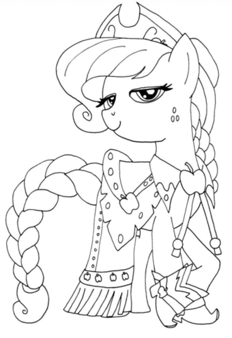 Пони девочки принцессы раскраски 191