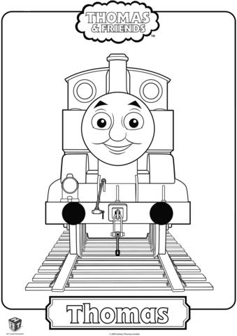 Паровозик Томас раскраска