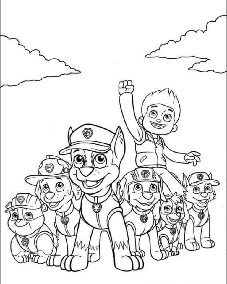 Раскраски щенячий патруль играть онлайн бесплатно на