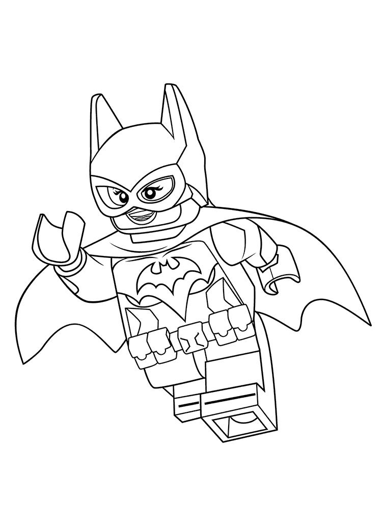 Лего фильм бэтмен разукрашки