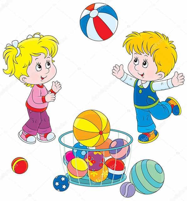 Мячики в поэзии детям картинка